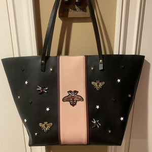 Neiman Marcus Queen Bee Faux Tote Bag